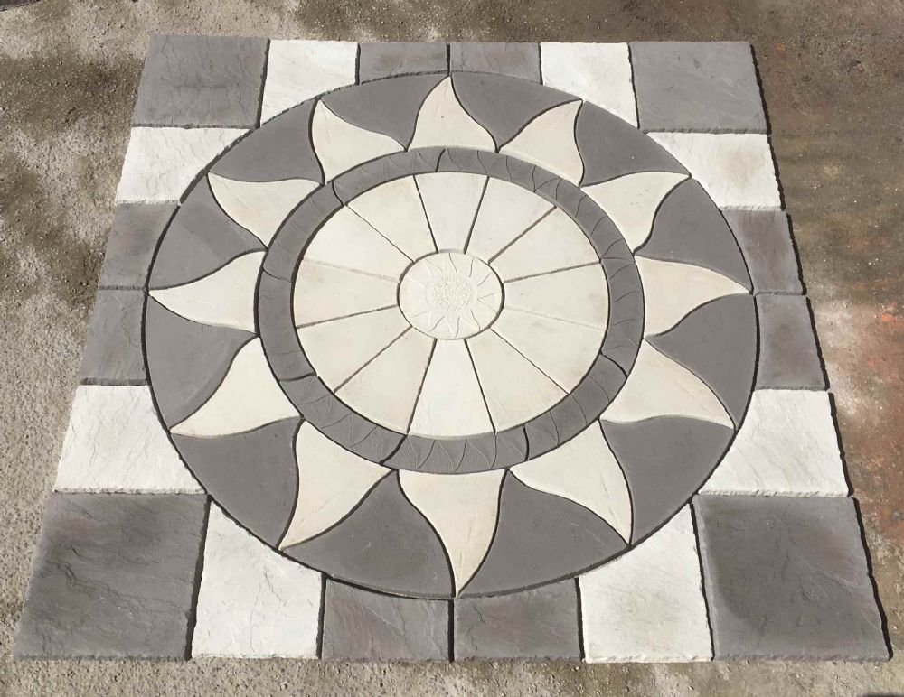 2560mm Aztec Sun Slate Grey /White